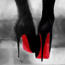 Louboutin At Midnight Black and White by Rebecca Jenkins