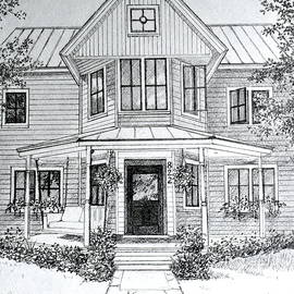 Louisiana House Portrait Sketch by Hanne Lore Koehler