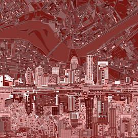 louisville kentucky skyline abstract 8 - Bekim Art