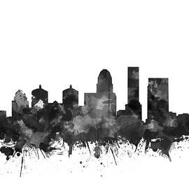 louisville kentucky skyline watercolo5 - Bekim Art