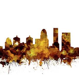 louisville kentucky skyline watercolor 2 - Bekim Art