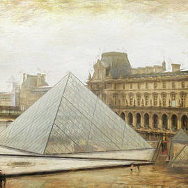 Louvre and Pyramid in the Rain