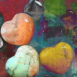 Kathy Barney - Love Heart Stones Abstract
