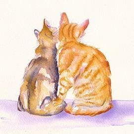 Love is... two kittens by Debra Hall