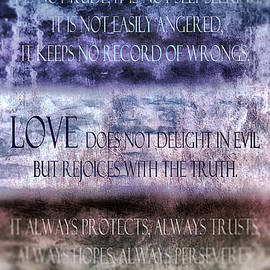 Love Rejoices With The Truth by Angelina Tamez