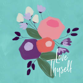 Love Thyself- Art By Linda Woods by Linda Woods