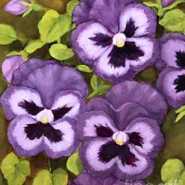Lovely purple pansy faces by Inese Poga