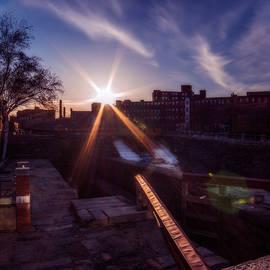 Lowell Locks Sunset by Chris Bordeleau