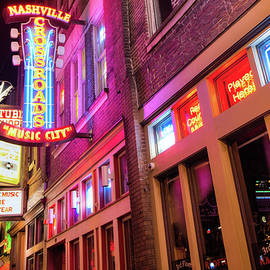 Gregory Ballos - Lower Broadway Nashville Neon Lights in Color