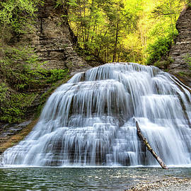 Lower Falls at Treman State Park by Stephen Stookey