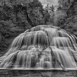 Lower Falls in Monochrome by Stephen Stookey