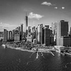 Susan Candelario - Lower Manhattan Aerial View BW