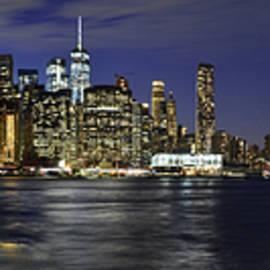 Lower Manhattan From Brooklyn Heights At Dusk - New York City by Carlos Alkmin