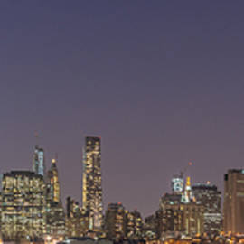Lower Manhattan Skyline Nightscape by Scott McGuire