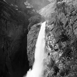 Sierra Vance - Lower Yosemite Falls Black and White