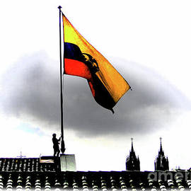 Lowering The Flag, Quito, Ecuador by Al Bourassa