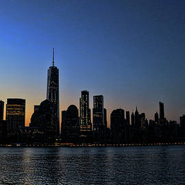 Lower Manhattan at Sunrise by Allen Beatty