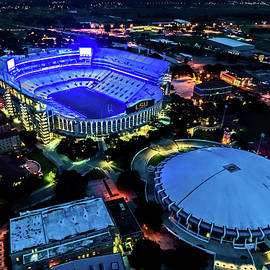 Lsu Tiger Stadium Supports Law Enforcement by Andy Crawford