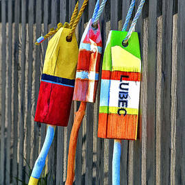 Lubec Buoys by Marty Saccone