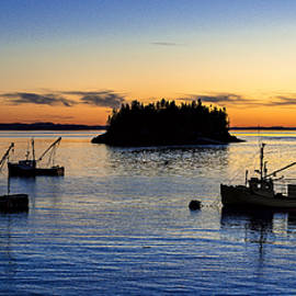Lubec Harbor PreDawn Silhouette by Marty Saccone