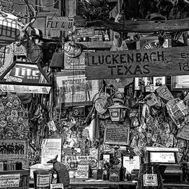 Judy Vincent - Luckenbach Texas Est 1849 Black and White