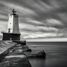 Adam Romanowicz - Ludington Light Black and White