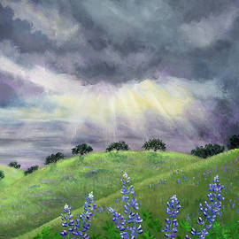 Lupines After a Spring Storm - Laura Iverson