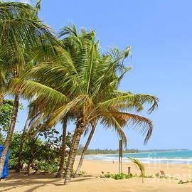 Luquillo Beach Puerto  Rico by Charlene Cox