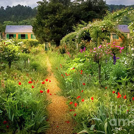 Lush Garden at Claude Monet's Home in Giverny, France 2 by Liesl Walsh