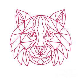 Aloysius Patrimonio - Lynx Bobcat Head Mono Line