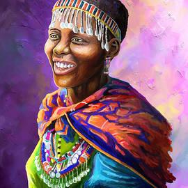 Anthony Mwangi - Maasai Girl
