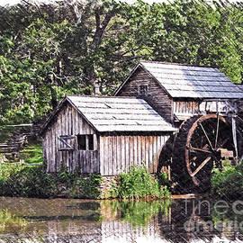 Kerri Farley - Mabry Mill - Digital Art