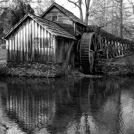 Mabry Mill in Black and White 1x1 - Virginia by Gregory Ballos