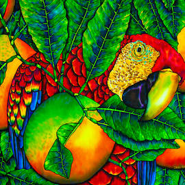 Macaw and Oranges - Exotic Bird by Daniel Jean-Baptiste
