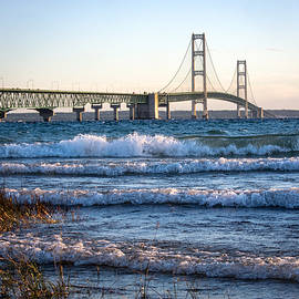 Mackinac Bridge Michigan by Mary Lee Dereske