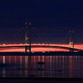 Mackinac Bridge on a June Evening by Keith Stokes