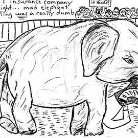Mad Elephant Wrestling by Aaron LeDuc