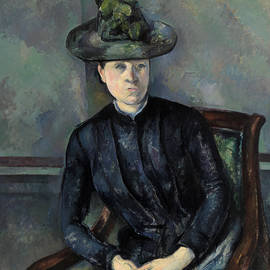 Madame Cezanne with Green Hat - Paul Cezanne