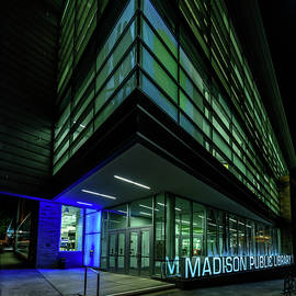 Randy Scherkenbach - Madison Public Library at Night