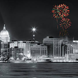 Madison - Wisconsin - New Years Eve Fireworks 3 by Steven Ralser