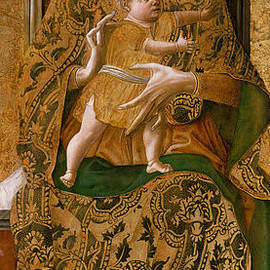 Madonna and Child Enthroned, 1472  - Carlo Crivelli