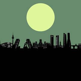 madrid city skyline minimalism - Bekim Art