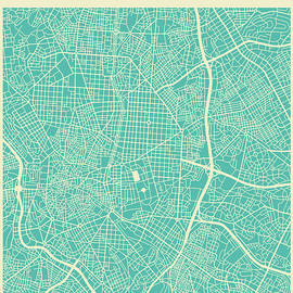 MADRID STREET MAP 2 - Jazzberry Blue