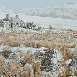 Maen y Gaseg in winter by Alwyn Dempster Jones
