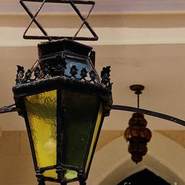 Magen David And Lantern In St. Thomas by Poet's Eye