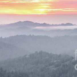 Yuval Helfman - Magical Sunset Panorama over Santa Cruz Mountains