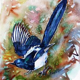 Magpie-Two For Joy  by Trudi Doyle