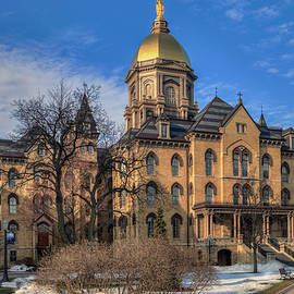 Main Building At Notre Dame by Jerry Gammon