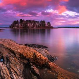 Ranjay Mitra - Maine Pound of Tea Island Sunset at Freeport