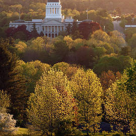 Maine State Capitol at Sunset - Olivier Le Queinec